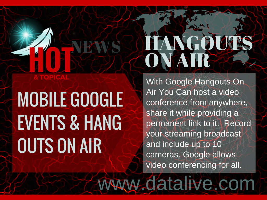 HOT & TOPICAL- GOOGLE MOBILE HANGOUTS ON AIR #DATALIVE #WEBTHERAPY