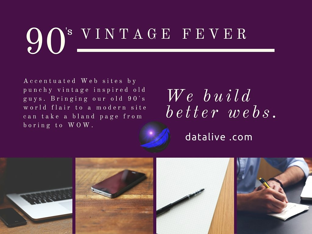 Accentuate your Web with punchy vintage inspired old guys. datalive dot com